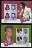 St Vincent 1985  2 Sheets Sc 880-1 Elvis Presley CV $23 - St.Vincent (...-1979)