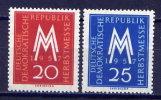 DDR Nr.596/7              **  Mint       (4331)   ( Jahr: 1957 ) - DDR