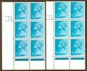 GB-MACHIN 1973 ½p. Turquoise-blue, 2B FCP DEX, Cyl. Blocks 8 ND & 8 D, Ph. 21, Perf. Type RE, XF MNH - 1952-.... (Elisabeth II.)