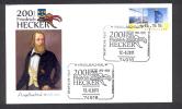 GERMANY ALLEMAGNE 2011. SPECIAL POSTMARK. 200 YEARS OF FRIEDRICH HECKER - Beroemde Personen