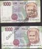 LOT N° A55 *ITALIE*LOT DE 2 BILLETS_1.000  LIRE_BILLETS CIRCULES_1990_ - 1000 Lire