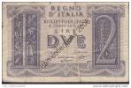 LOT A 249 *ITALIE BILLET DE 2 LIRE_14-11-1939_BILLETS CIRCULES_ - [ 1] …-1946 : Royaume