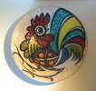 Talavera - Wall Plate Rooster - Sierbord Haan - Assiette Au Coq - Hahn SE273 - Talavera/Toledo (ESP)