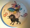 Toledo - Wall Plate Rooster-Bull - Sierbord Haan En Stier - Assiette Au Coq  Et Taureau- Hahn SE272 - Talavera/Toledo (ESP)