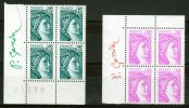 FRANCE N° 1966 + 2120 NEUFS** BLOCS DE 4 SIGNE P. GANDON. RARE VOIR SCAN. - Francia