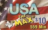 TARJETA DE ESTADOS UNIDOS DE USA THE MAX $10 - Estados Unidos