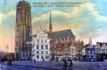 "17811   Belgio,  Malines,  Grand""Place Et  La  Cathedrale,  VG 1919 - Mechelen"