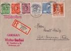 Gemeina. R-Brief Mif Minr.915,917,921,947,950,963 Frankfurt 14.8.47 - Gemeinschaftsausgaben