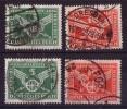 DR Minr.370 X, Y - 371 X, Y Gestempelt - Deutschland