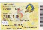 Disney * PASSPORT * Entreecard JAPON * TOKYO DISNEYLAND  (832) JAPAN PASS * CINEMA * FILM * THE LITTLE MERMAID - Disney