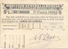 IMPUESTO INMOBILIARIO LOMAS DE ZAMORA AÑO 1924 - Invoices & Commercial Documents