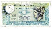 BILLET ITALIE - REPUBLICA ITALIANA  - P.94 - 500 LIRE - [ 1] …-1946 : Royaume