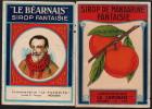 Etiquettes De Sirop Grenadine Et Mandarine - Obst Und Gemüse