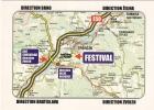 TRENCIN FESTIVAL SLOVAKIA Map Plan Mapa Karte Mappa - Slovakia