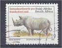 SOUTH AFRICA 1993 Endangered Fauna - (-) - Black Rhinoceros (latin Name) FU - South Africa (1961-...)
