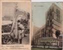 BELGIQUE : HUY.(Liège): 2 Cartes:1:La Collégiale.1909.2:Jean-Joseph RONDCHESNE,Centenaire Hutois.1904. - Huy