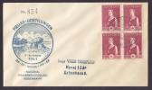 Denmark FÆLLES-UDSTILLINGEN 1941 Cover National Stamp Exhibition Red Cross Rotes Kreuz Croix Rouge 4-Block !! - 1913-47 (Christian X)