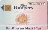 """AFFAIRE à Ne Pas Râter   !!!   TC PRIVEE  """" PUB ULTRA PAMPERS Bébé   """"  Parfait état  ( Utilisée ) - Phonecards: Private Use"""