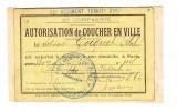- Autorisation De Coucher En Ville - 35e Rgt Territorial D´ Infanterie - 23e Compagnie - 20e Section De Secrétaires - - 1914-18