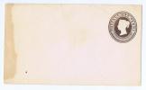 Great Britain  1866. Victoria. Postal Stationery [entier Postal,Ganzsache,intero Postale] 1p Brown - Material Postal