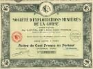 Exploitations Minières De La Corse - Actions & Titres