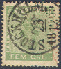# Sweden    6a, Used, VF,  DEEP GREEN, SCV $250,   (sw006-10, Michel 7....[16-BER - Used Stamps