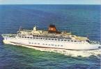 DFDS Seaways - M.S. Dana Regina Ferry - Boat Paquebot - Esbjerg Harwich Service - Unused - 2 Scans - Sailing Vessels