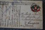 MILITARIA CARTE EN FRANCHISE MILITAIRE ITALIA  DALE FRONTE 19-7-1917 > CENSURE VERIFISCATO PER ...GUERRA WAR CASAPINT - Affrancature Meccaniche Rosse (EMA)