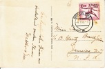 Germany Postal Card  To U.S.  OLYMPICS  FENCER - Briefe U. Dokumente