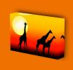 Canvas Art Print On Stretcher Bars, Animal, Giraffe, Savanna, Africa, Sunset - Prints & Engravings