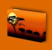 Canvas Art Print On Stretcher Bars, Animal, Tier, Savanna, Africa, Sunset - Prints & Engravings