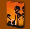 Canvas Art Print On Stretcher Bars, Animal, Tier, Dinosaurs, Sunset - Prints & Engravings
