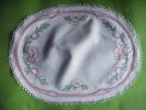 Napperon Ovale 45cm X34 Cm Decor Fleur- - Napperons