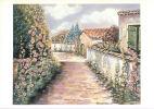 Rue Fleurie Avec Muret - Pastel De Marie Antoinette Nomikos - Non Classés