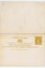 Ceylon, QUEEN VICTORIA Postcard With Answer Part Attached, Mint , Rare! - Ceylon (...-1947)