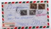 Lettre Recommandée De Lisbonne , Portugal,  Vers Paris  1964 - Marcofilia