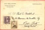 España 1939. Tarjeta Postal De Valencia Del Ventoso A Nueva York. Censura. - Marcas De Censura Nacional