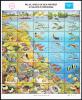Palau Scott #103 MNH Sheetlet Of 40 14c World Of Sea And Reef - Palau