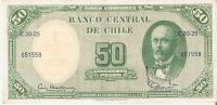 BILLETE DE CHILE DE 50 PESOS EN CALIDAD EBC (BANKNOTE) - Cile