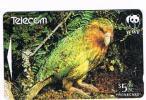NUOVA ZELANDA - NEW ZEALAND - TELECOM (GPT) - 1998 WWF: BIRDS (KAKAPO)  Code 501BO   - USED  -  RIF. 3689 - Pappagalli