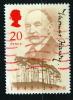 Great Britain 1990 20p Thomas Hardy Issue #1326  Red Cancel - 1952-.... (Elizabeth II)
