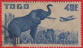 1947 - France - Afrique A.O.F. -  TOGO  - Poste Aérienne - Eléphants -  40 F.  Bleu  - - Gebraucht