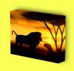 Canvas Art Print On Stretcher Bars, Animal, Tier, Africa, Lions, Savanna - Prints & Engravings