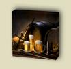 Canvas Art Print On Stretcher Bars, Drink, Beer, Barrel, Jar - Prints & Engravings