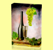 Canvas Art Print On Stretcher Bars, Wine, Wein, Vino, Glass, Grape - Prints & Engravings