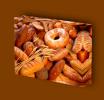 Canvas Art Print On Stretcher Bars, Food, Bread, Donut, Bakery - Prints & Engravings