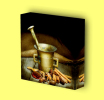 Canvas Art Print On Stretcher Bars, Kitchen, Spices, Mortar, Cinnamon - Prints & Engravings