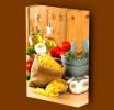 Canvas Art Print On Stretcher Bars, Kitchen, Spices, Pasta, Garlic, Vegetables, Oils - Prints & Engravings
