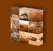 Canvas Art Print On Stretcher Bars, Mosaic, Harvest, Grain, Wheat - Prints & Engravings