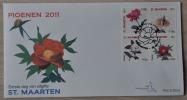 SINT MAARTEN ++ NEW NEW ++ 2011 FDC E003 A SHEET FLOWERS FLEUR BLOEMEN MNH NEUF ** - Curacao, Netherlands Antilles, Aruba
